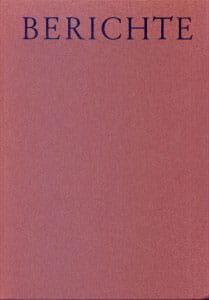 Berichte 1971 – 1972