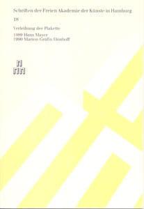 Nr. 18 Dokumentation der Plakettenverleihung 1990