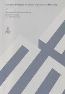 Nr. 25 Dokumentation der Festveranstaltung Heinrich Heine zum 200. Geburtstag