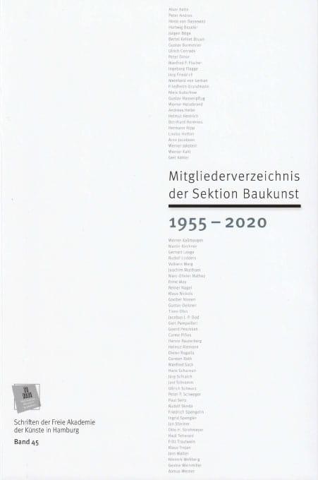 Nr. 45 Mitgliederverzeichnis der Sektion Baukunst 1950 – 2020